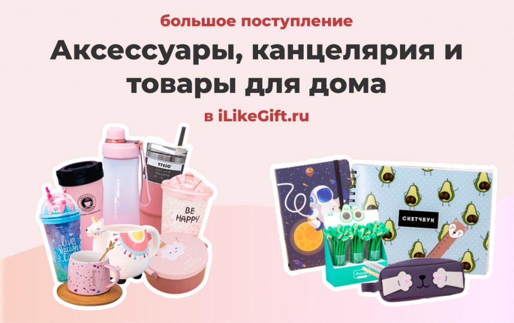 Новые аксессуары, канцелярия и товары для дома в iLikeGift.ru