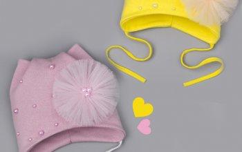 Трикотажные шапочки для девочек!!