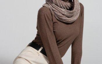 Женские шарфы снуды